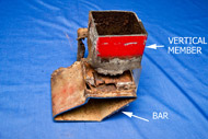 Figure 3: The section of bar that broke away was deformed.